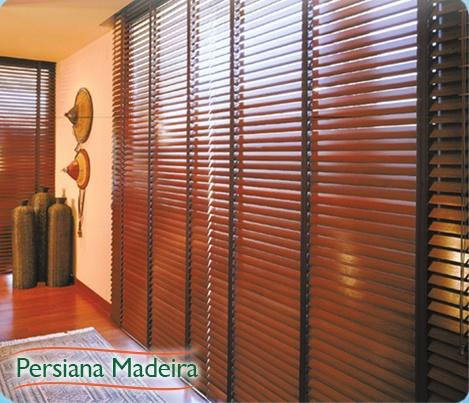 perciana madeira - Venda e Manutenção de Persiana