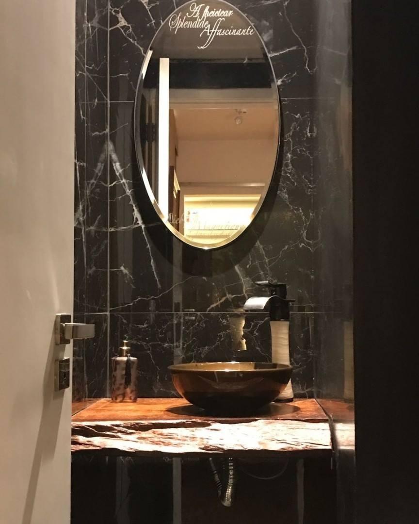 Bancada de Madeira Maciça Para Pia de Banheiro - Bancada de Madeira Maciça Para Pia de Banheiro