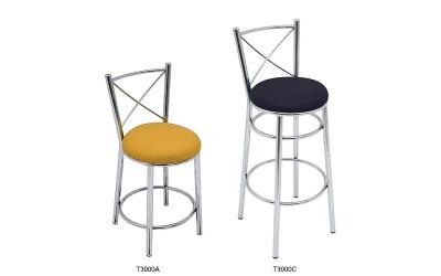 Banqueta Estrutura tubular com assento estofado ATIBAIA - Cadeira Escolar