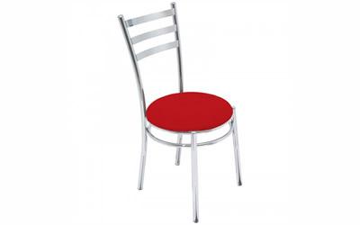 Cadeira-Art-Deco - Cadeira com Estrutura tubular com assento estofado