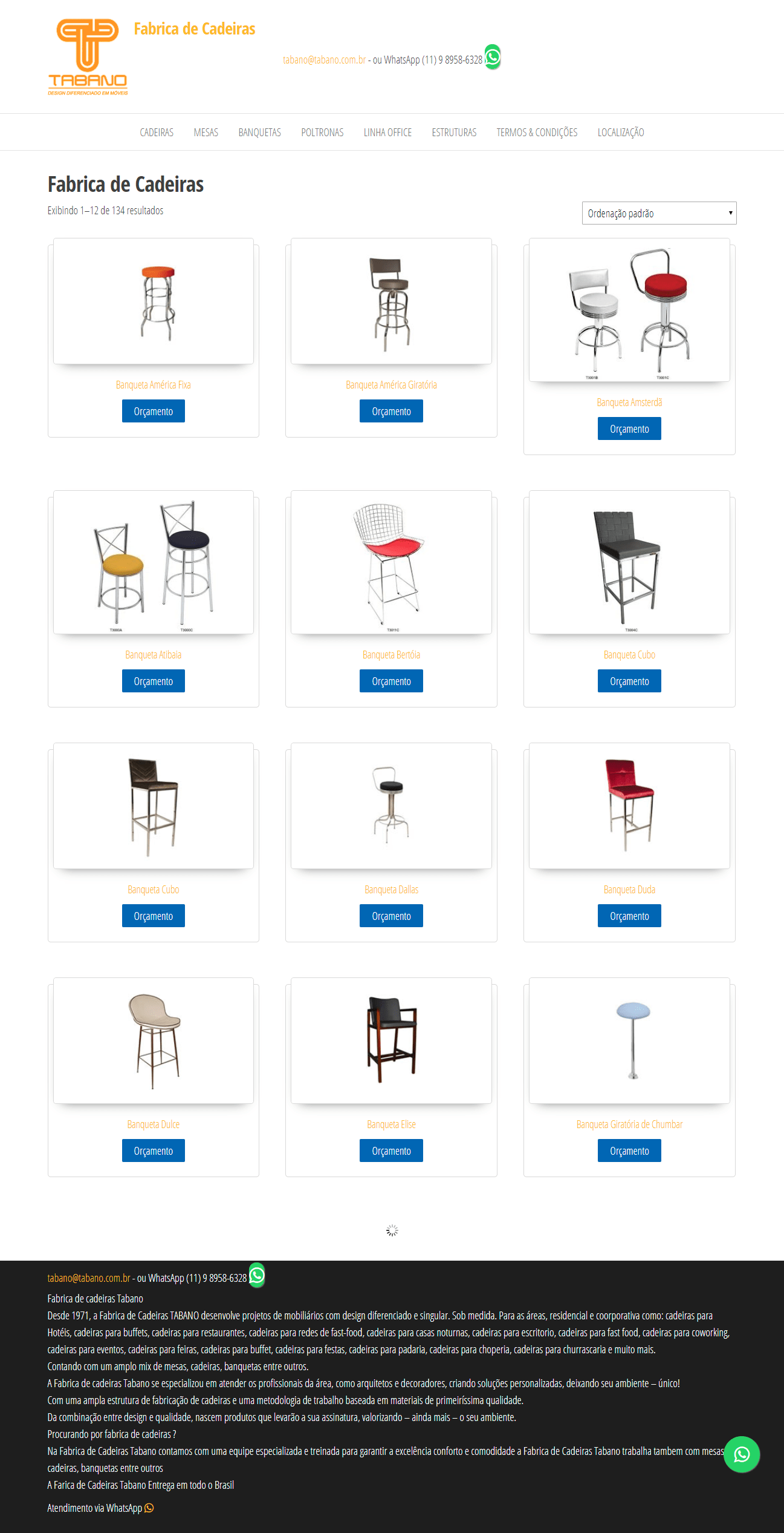 loja virtual fabrica de cadeiras