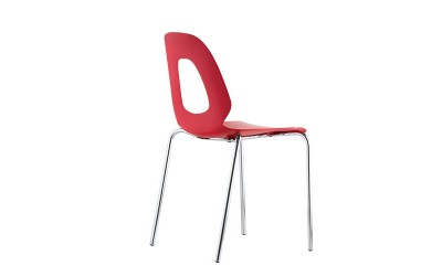 Tabano - Cadeira Estrutura tubular assento e encosto plástico polipropileno – Cloe