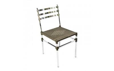 Tabano - Cadeira Tahiti Vime com Estrutura tubular com assento estofado