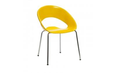 Tabano - Poltrona One Fixa com Estrutura tubular com assento em plástico polipropileno