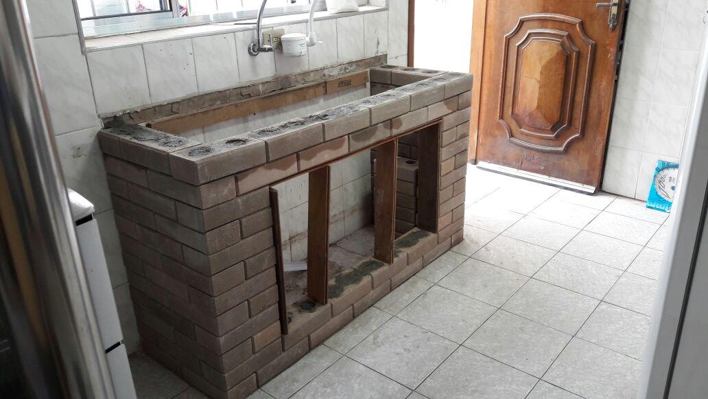Pia Cozinha Feita com Tijolo-Ecologico - Tijolo ecológico Faça sua construção