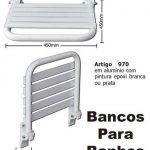Banco Articulado Para Banho 45x45 Cm Com Pintura Epóxi Branca - cópia
