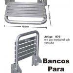 Banco Articulado Para Banho 45x45 Cm Em Aço Inox Polido Ou Escovado