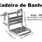 Cadeira De Banho Removível 37x37 Cm Com Pintura Epóxi Branca