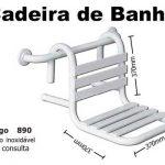 Cadeira De Banho Removível 37x37 Cm Em Aço Inox Polido Ou Escovado
