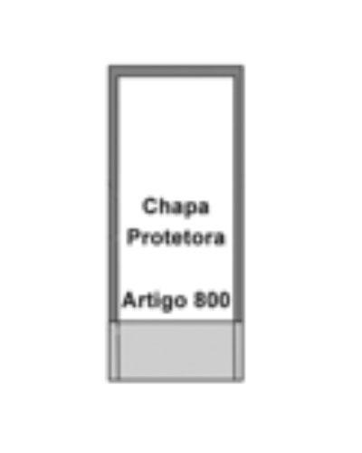 Chapa De Proteção Para Porta Em Aço Inox Com Espessura De 1mm - Barras de Apoio