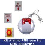 KIT De Alarme Sem Fio – NBR 9050 :2015