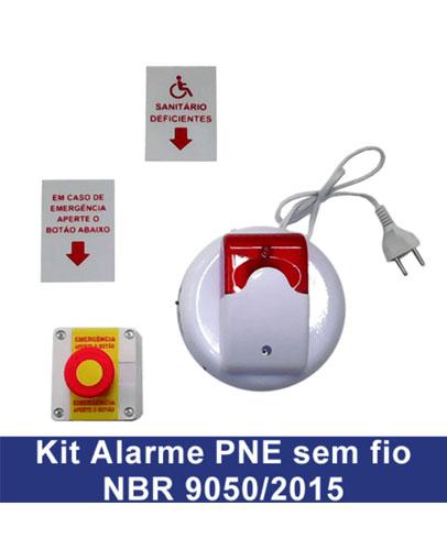 KIT De Alarme Sem Fio – NBR 9050 :2015 - Barras de Apoio