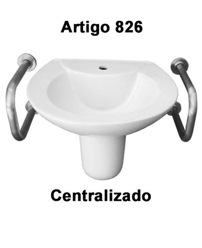 Suporte De Apoio Para Lavatório De Acordo Com A NBR 9050 : 2015 (Peça Única) - Barras de Apoio