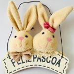 Placa Casal Coelho Happy